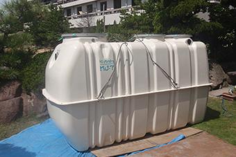 合併処理浄化槽の設置、工事1