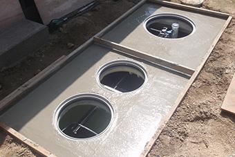 合併処理浄化槽の設置、工事2