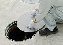 浄化槽周辺の状況を点検1